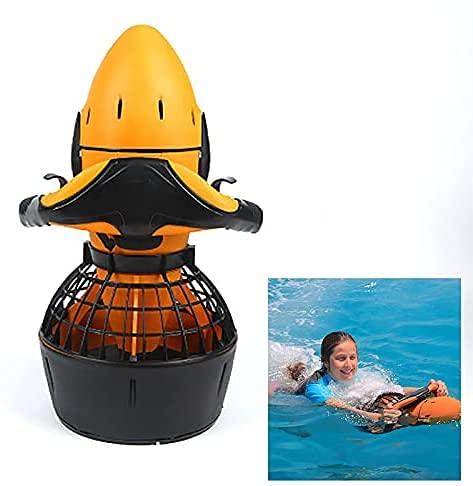 BE-STRONG Submarino Vespa para el Buceo, la Vespa del mar, la Velocidad Doble hélice bajo el Agua Scooter eléctrico 300W Impermeable al Seascooters 6km / h Deportes al Aire Libre para Adultos Piscina