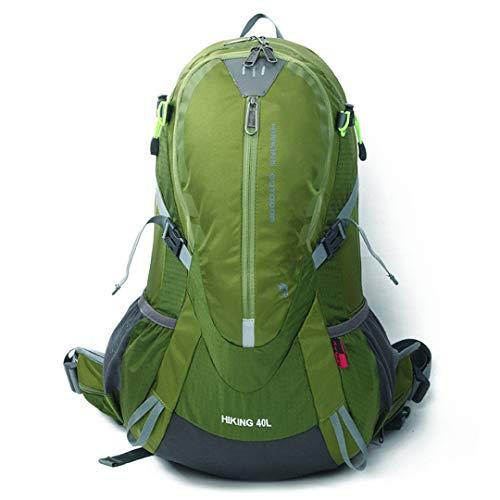 Nylon Anti-déchirure Sac escalaen Plein air Sport étanche Sac à Dos 40L Ensemble Camping Sac étudiant Green Color 30-40L