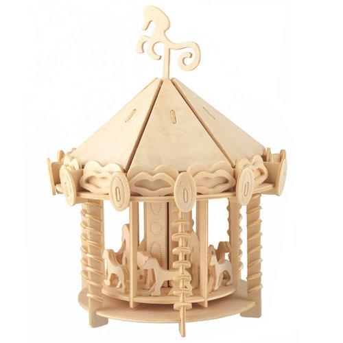 Etna Karussell Typ 2 3D Holzbausatz Puppenhaus Holz Steckpuzzle Holzpuzzle Kinder P082