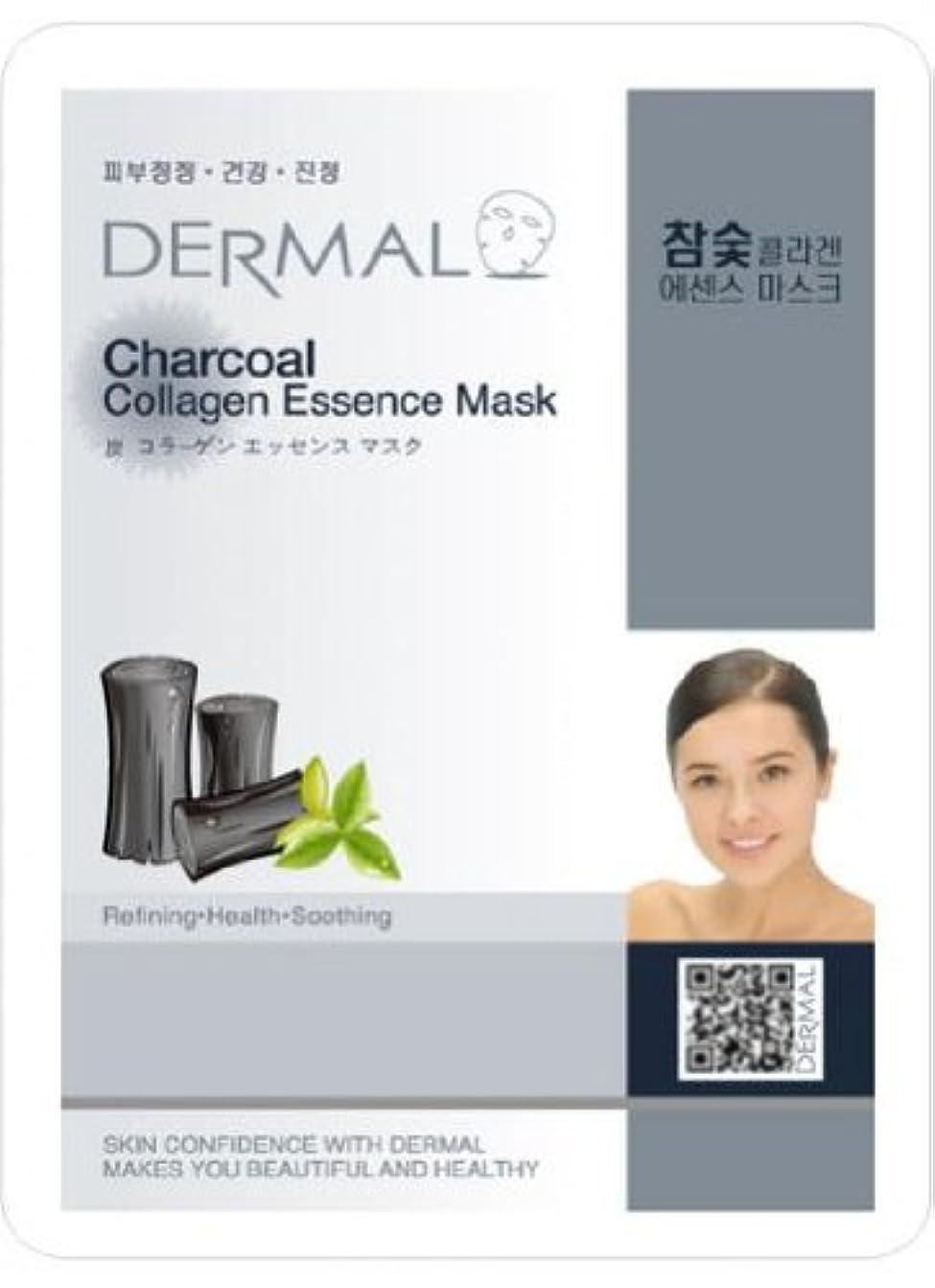 充実焼く硬さダーマル(Dermal) フェイス パック マスク 炭 10枚セット