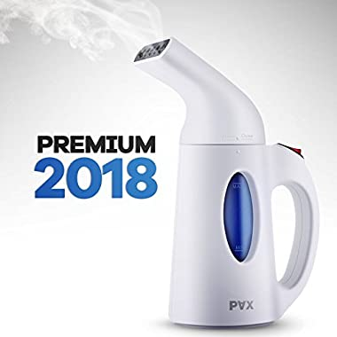 clothes steamer 2018 Powerful, Travel and Home Handheld Garment Steamer, 60 Seconds Heat-Up, Fabric Steamer With Automatic Shut-Off Safety Protection (PAX)