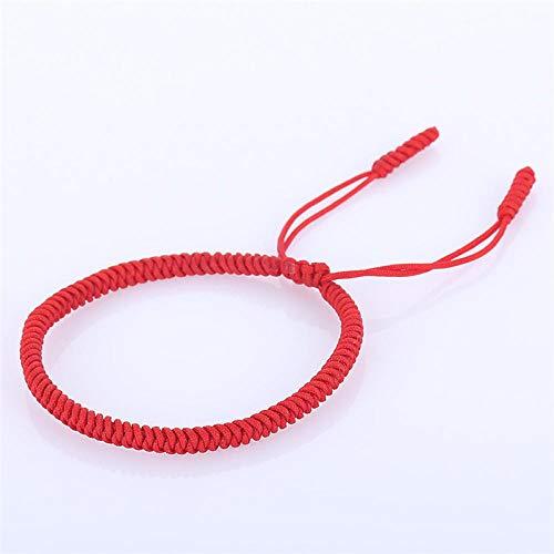 Bracelets Pour Femme,King Kong Tressé À La Main Bracelet Noeud Rouge Amour Bouddhiste Tibétain Bracelets De Corde Rouge Chanceux Pour La Femme Unisexe Bracelets Pour Tous Les Jours, L'Élève Bijou