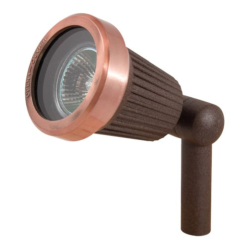 Sterno Home Paradise GL22724RC Spotlight with 20-Watt MR16 Halogen Bulb, Quick Clip Connector, Low Voltage Aluminum Outdoor Path Light Finish, Rust Copper