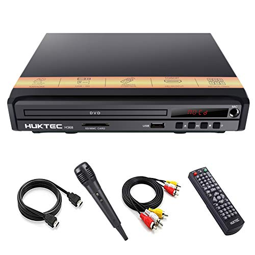 Great Deal! DVD Player, Home DVD Players for TV Region Free DVDs 1080p Full HD Compact CD/DVD Player...
