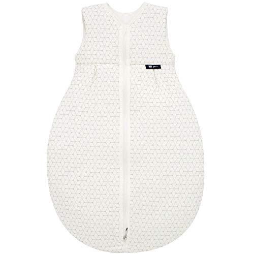 Alvi Baby Mäxchen Light - Leichter Sommer-Schlafsack ohne Arm Babys Schlafsack ungefüttert Birnenform, 100% Baumwolle Öko-Tex 100 zertifiziert, Größe:90, Design:Graphic taupe 944-8