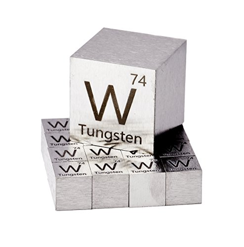 Tungsten Metal 10mm Density Cube 99.95% Pure