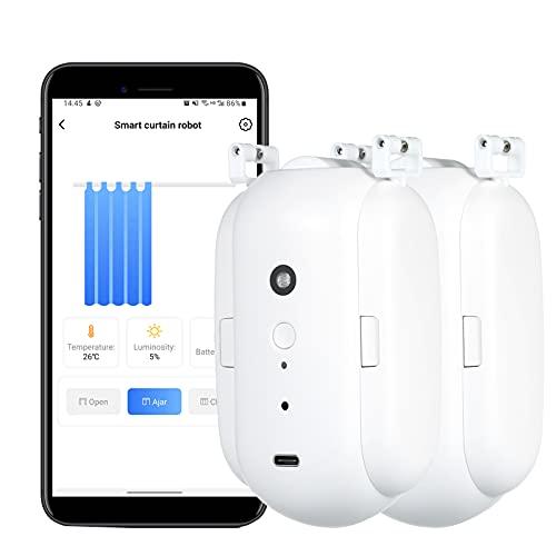 Funien BT automatico apri robot più vicino intelligente motore per tende timer controllo vocale dispositivo di automazione domestica intelligente per sostituzione asta binario per tende per Amazon Ale