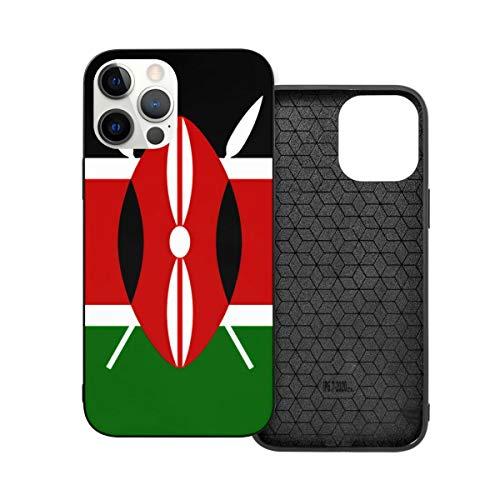 Funda de protección compatible con iPhone 12 / iPhone 12 Pro Kenya Flag Phone Casos / Funda de silicona suave TPU