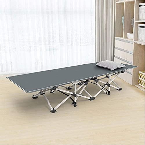 Worth having - Cama plegable portátil, con una cómoda cama de campaña ajustable de reposacabezas, con un marco resistente fuerte y una estera de pie antideslizante, peso de rodamiento 180 kg (396 lb)