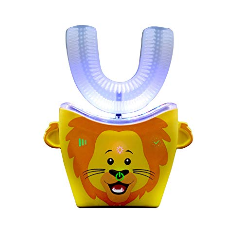 Autobrush 4 Kids - The Original 30 Second Brushing 360 Toothbrush (Ages 5-7, Lion)