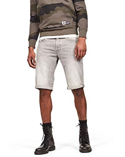 G-STAR RAW Herren 3301 Tapered Shorts, Grau (Dusty Grey B456-A799), 34W