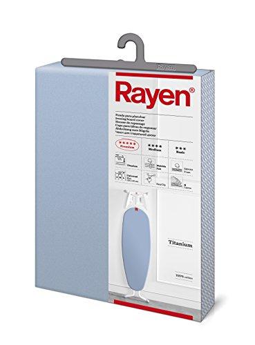 Rayen 6157.03 - Funda Universal para tabla de planchar acolchada, Sistema EasyClip, Azul, 130 x 47 cm