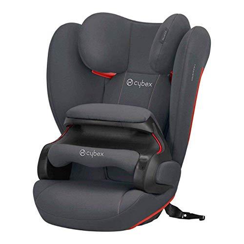 Cybex Silver Seggiolino auto per bambini Pallas B-Fix, Per auto con e senza ISOFIX, Gruppo 1/2/3 (9-36 kg), Da 9 mesi ca. a 12 anni, Grigio(Steel...