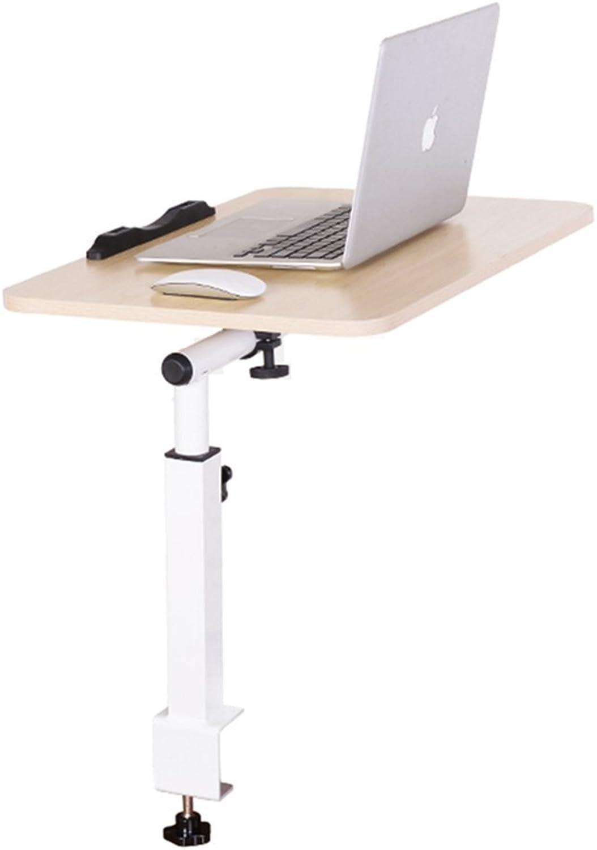 NAN Laptop Table Computer Desk Bed Use Foldable Adjustable redatable Desktop Dormitory Lounger Desk Study Table Folding Tables (color   White Maple color)