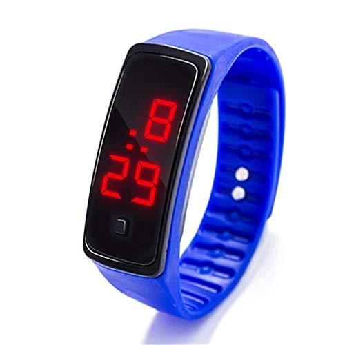 Fliyeong Reloj de pulsera con LED para deporte, digital, de silicona, duradero y útil