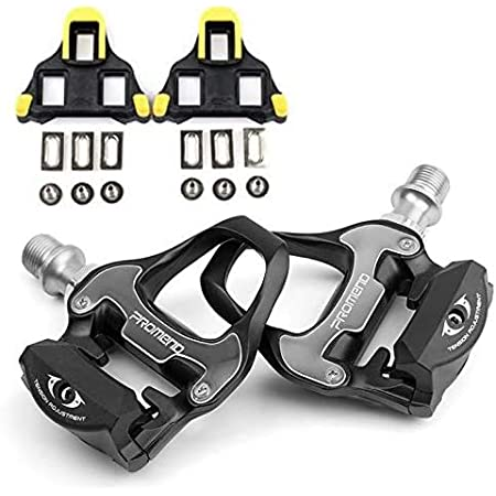 PROMEND Automatic Pedals for Road Bikes Racing Bikes + SPD-SL Wedges, Flycoo