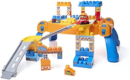 Mega Bloks DPY52 First Builders Rennrampen-BauSpaß-Tisch Fisher Price TO