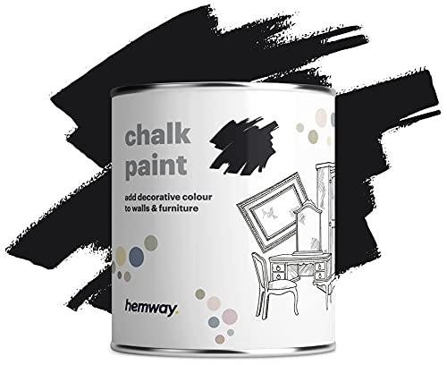 Hemway Negro tiza pintura mate acabado de la pared y la pintura de muebles 1L / 35 oz elegante lamentable de la vendimia calcárea (más de 50 colores disponibles)