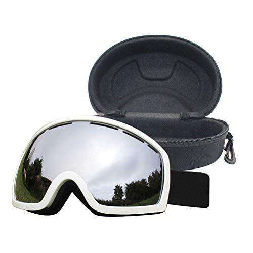 Tixiyu Gafas de esquí antivaho con protección UV400, gafas de snowboard para hombres y mujeres con funda de gafas, resistentes a los impactos y compatibles con casco, gafas de esquí y snowboard
