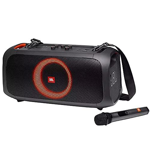 Caixa de som portátilpara festas com Bluetooth, Microfone sem fio e efeitos de luzes JBLPARTYBOXGOBBR2