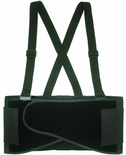 Custom Leathercraft 5000S Elastic Back Support Belt Fits Waists, 28-Inch to 32-Inch, Small