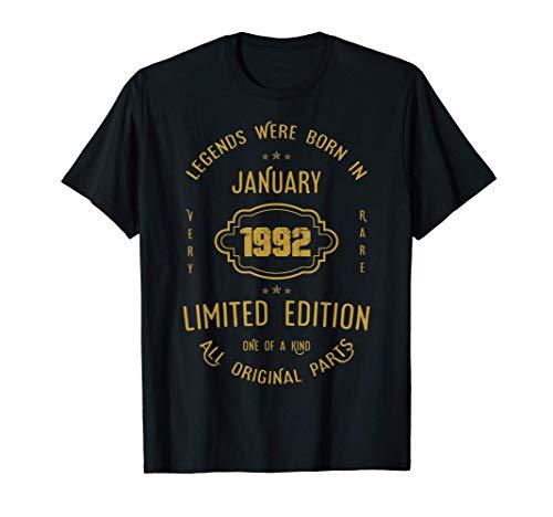 29 años de cumpleaños - Las leyendas nacen en enero de 1992 Camiseta