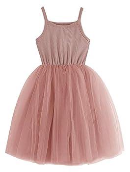 BTGIXSF Baby Girls Tutu Dress Toddler Sleeveless Tulle Dress Princess Infant Party Dresses 1580 Pink 6T