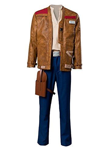 Bilicos The Last Jedi Finn Outfit Traje de Cosplay Disfraz Hombres Caballeros XXL