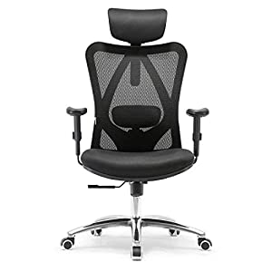 ★ 【Multiple Adjustments】5 ergonomic adjustabilities help you to find the most comfortable seating position for a long term sitting. Adjustable back support, headrest adjustment, stepless seat height, and tilt adjustment plus height adjustable arms, a...