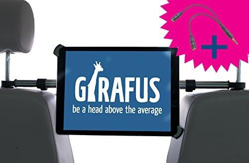 Girafus Tablet Kfz Kopfstützen-Halterung Mitte / 9,5 bis 14,5 Zoll /–für / iPad Pro 12.9'', Galaxy TabPro S, MS Surface 12.3'' und größer / Relax H3 - Rücksitz Halter Auto Universal