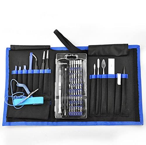 Juego de destornilladores de precisión de 75 piezas, kit de herramientas de reparación multifuncional en bolsa...