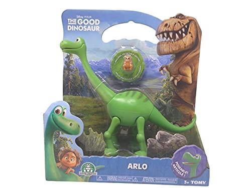 Dinosaurio de juguete 'Arlo Disney' con mini personajes – Dinosaurio de 19 cm personajes Disney pequeños 3 cm – Muñecos Disney Dinosaurios juguete de plástico el buen viaje de Arlo Pixar mini juguetes