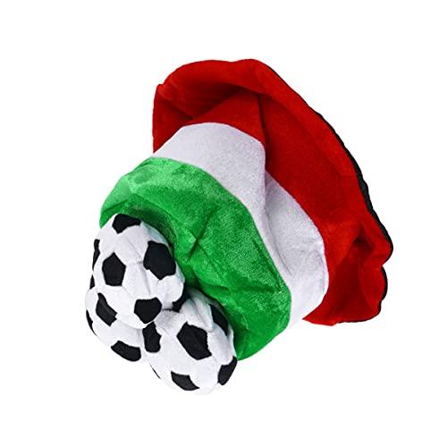 KESYOO Sombrero de Ftbol de Felpa Copa del Mundo Sombrero de Ftbol Sombrero de Italia Bandera de Animadora Sombrero de Ftbol Fans Fiesta Disfraz Sombrero Deporte Fiesta Favor