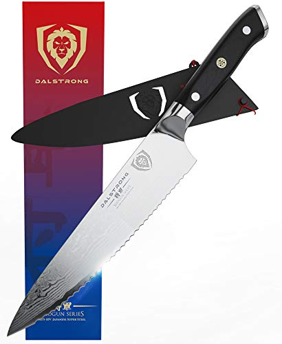 DALSTRONG Serrated Chef Knife - 7.5' - Shogun Series -...