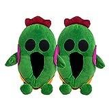 WALLhang Zapatillas de Felpa de otoño e Invierno, Bolsa de Pareja de Animales tridimensionales con Zapatos de Felpa para el hogar-Cactus_35-42