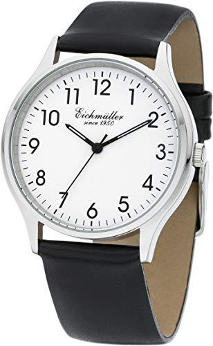 Eichmüller Herren Klassische Armbanduhr 38mm Uhr Echtleder Armband 5 ATM Leder
