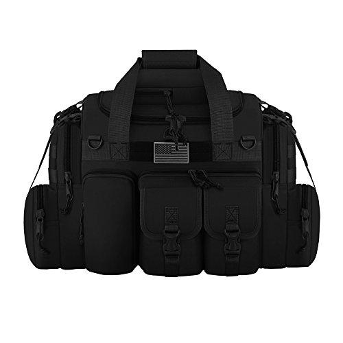 "East West U.S.A Tactical Outdoor Multi Pockets Heavy Duty 22"" Duffel Bag, Outdoor Sports Bag Black Color"