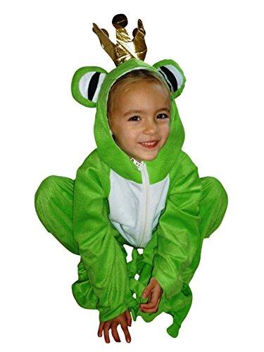 Frosch-König Kostüm, Sy12 Gr. 110-116, für Kinder, Froschkönig-Kostüme, Frösche Fasching Karneval, Klein-Kinder Karnevalskostüme, Kinder-Faschingskostüme, Geburtstags-Geschenk Weihnachts-Geschenk