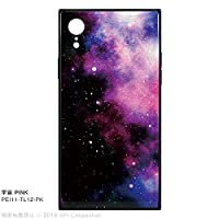 "EYLE スクエア型 ケース TILE""宇宙"" for iPhone XR (PINK)"
