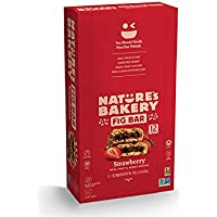 12-count box of Nature's Bakery Whole Wheat Fig Bars, 2 oz. Twin Packs (Strawberry)