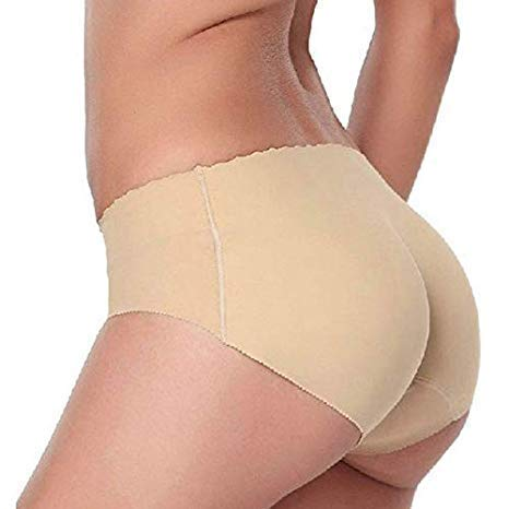 H.M.Enterprises Women Hip Enhancer Pads Underwear Shapewear Padded Control Panties Shaper Booty Fake Pad Briefs (L)