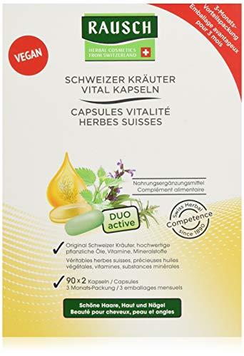 Rausch Schweizer Kräuter Vital Kapseln 3-Monats-Packung, 1er Pack(1 x 180 Stück)