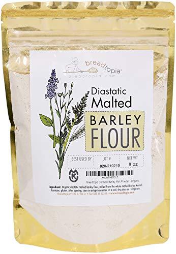 Breadtopia Organic Diastatic Malt Powder 8 oz.   Non-GMO Malted Barley Flour   No Additives, No Sugar, & No Fillers   Milled from Whole Malted Barley Kernel  