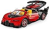 QqHAO Máquina en la Radio Coches de Control Remoto Convertibles de un Toque Juguetes controlados por Radio 1:14 RC Drift Car Racing Car Toys The For Kids RC Vehicle-Rojo