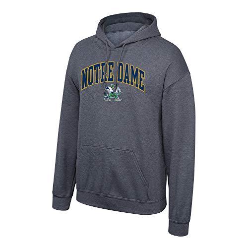 Elite Fan Shop Notre Dame Fighting Irish Men's Dark Heather Arch Hoodie Sweatshirt, X-Large