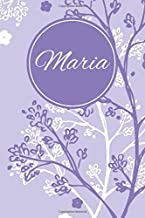 Maria: Personalized Customized Journal Notebook for Girls Named Maria With Monogram, Garden, Flowers and Trees Notebook Journal