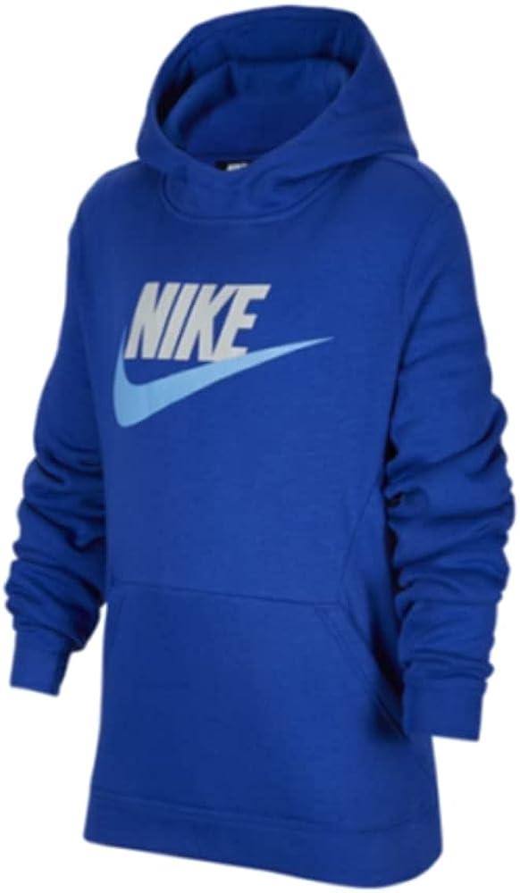 Nike Sportswear Club Fleece Big Kids' Pullover Hoodie Size L Blue