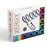 XERGY USB 5V 5050 RGB LED Flexible Strip Light Multi-Color Changing Lighting Kit, TV Background Lighting with Mini Controller for TV PC Laptop Bias Lighting (1 Meter for TV's Upto 28')