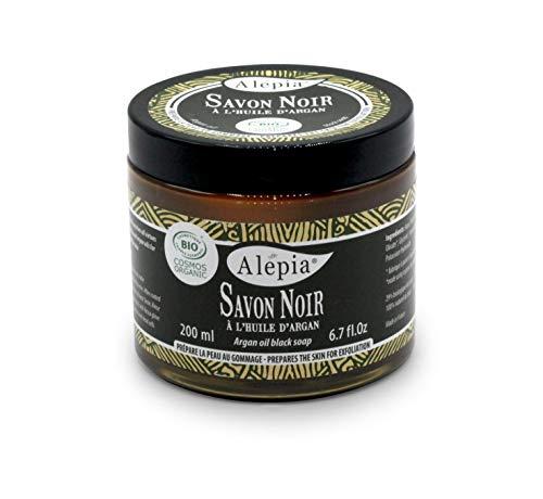 Alepia Savon Noir Premium à l'Huile d'Argan Bio