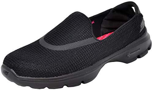 Skechers Performance Women's Go Walk 3 Slip-On Walking Shoe, Triple Black, 8 M US